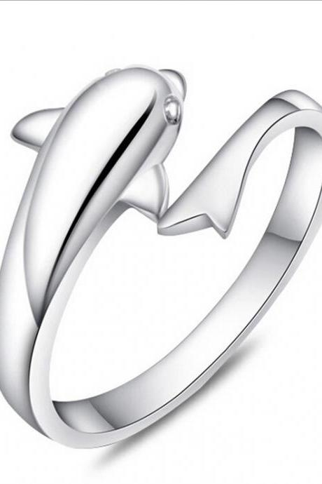 Retro Animal Rings Dolphins