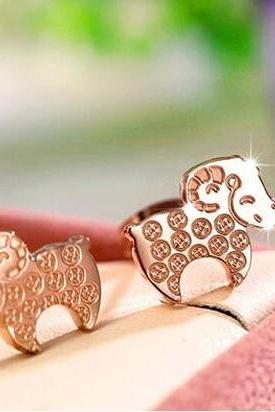 Fashion titanium steel earrings GE746 lamb