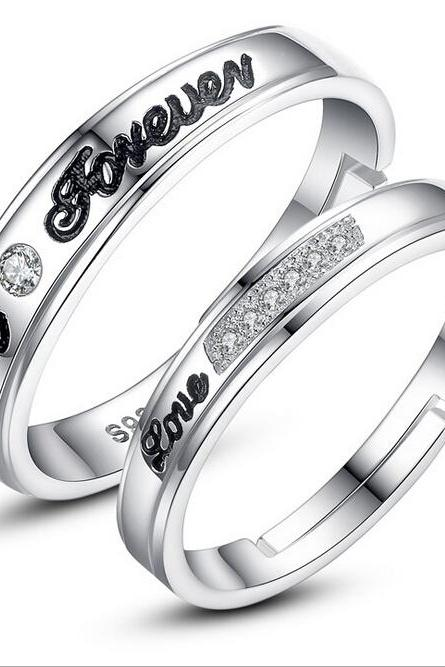 Fashion always spend silver couple rings