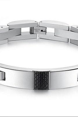 Black men's titanium steel bracelet GS3135