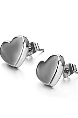 White titanium steel lovely Ms. earrings GE225