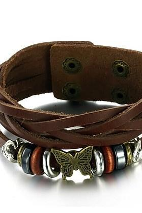 Men's retro leather bracelet bracelet PH769