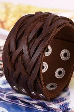 Retro fashion leather bracelet P01449