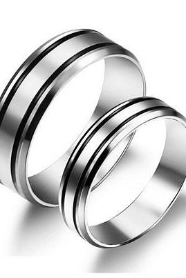 Titanium steel couple rings GJ452